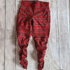 Like An Angel Red Plaid Pants Size 1X